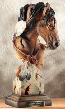 Sunka Wakan War Pony Horse Hand Painted Sculpture