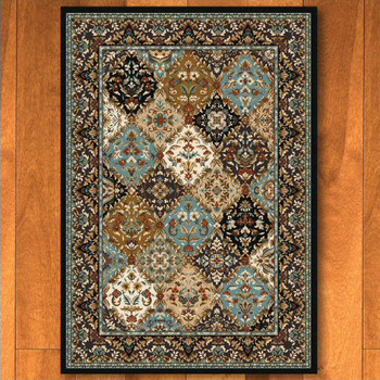 5' x 8' Badillo Multi Color Traditional Rectangle Rug