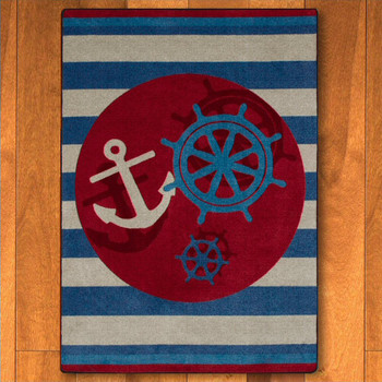 5' x 8' Ahoy There Nautical Rectangle Rug