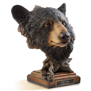 Deep Woods Black Bear Hand Painted Sculpture