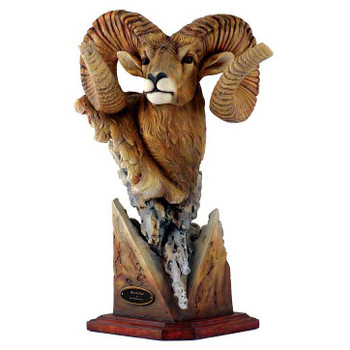 Fortitude Bighorn Sheep Hand Painted Sculpture