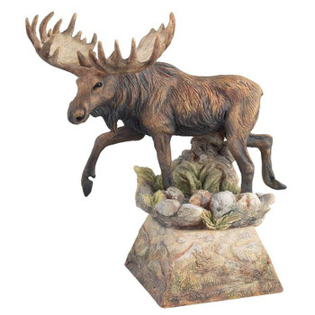 Ambler Moose Hand Painted Sculpture
