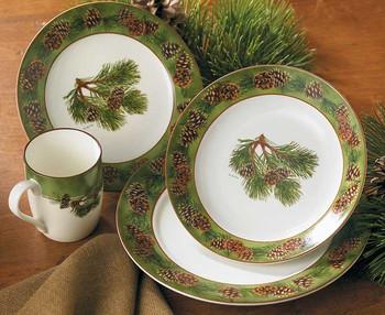 Pinecone Ceramic Dinnerware Set 16 Piece