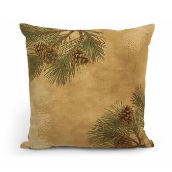 "18"" Pinecones Decorative Square Throw Pillows, Set of 4"