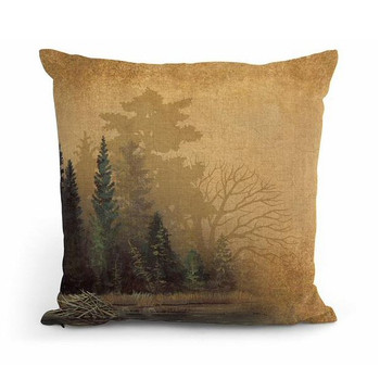 """18"""" Misty Forest II Decorative Square Throw Pillows, Set of 4"""