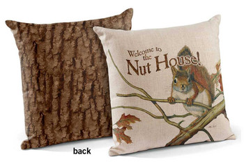 "18"" Welcome to the Nuthouse Decorative Square Throw Pillows, Set of 4"