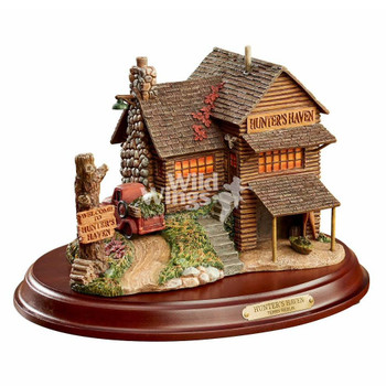 Hunter's Haven Cabin Hand Painted Sculpture by Terry Redlin