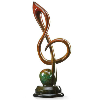 Worship Treble Clef Imago High Gloss Sculpture