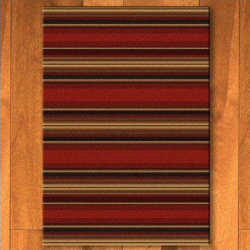5' x 8' Santa Fe Stripe Southwest Rectangle Rug