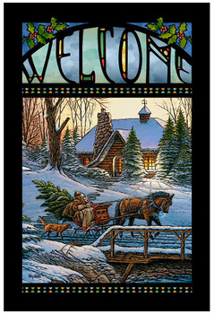 Heading Home Stained Glass Welcome Wall Art