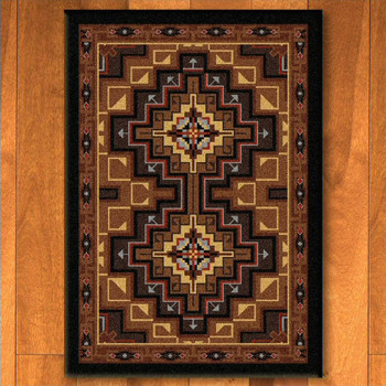 5' x 8' High Rez Earth Southwest Rectangle Rug