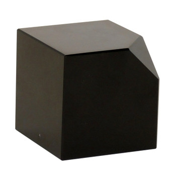 Black Crystal Cut Corner Cube Sculptures, Set of 2