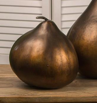 Bronze Verdi Gourd Sculpture, Set of 2
