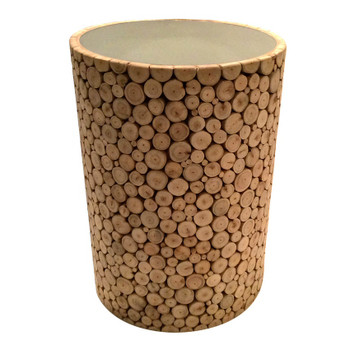 Eucalyptus Wood Round Accent Table