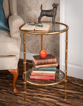 Antique Gold Iron Bamboo Table