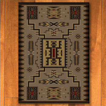 5' x 8' Storm Catcher Chestnut Southwest Rectangle Rug