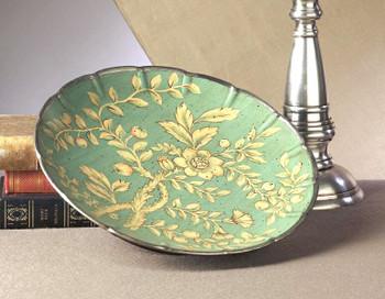 Blue Green Porcelain Plate, Set of 2