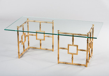 Antique Gold Bamboo Float Iron Coffee Table