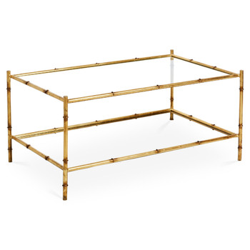 Antique Gold Two Tier Coffee Table