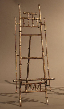 Antique Silver Bamboo Iron Easel, Set of 2