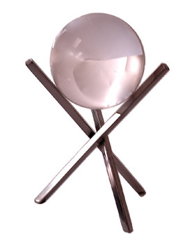 Crystal Ball on Nickel Sticks, Set of 2