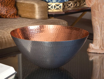 Bronze Copper Round Bowl, Set of 2