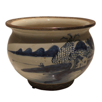 Blue and White Decorative Porcelain Water Bowl