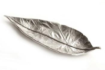Nickel Leaf Aluminum Trays, Set of 2
