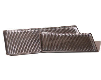 Rectangle Nickel Lined Trays, Set of 4