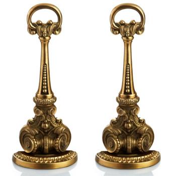 Antique Brass Door Stop, Set of 2