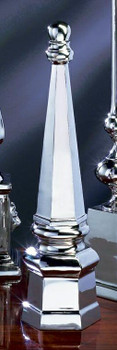 "21"" Nickel Finish Architectural Finial"