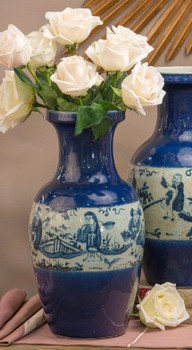 Blue and White Long Life Porcelain Jar