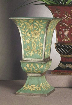 Blue and Green Iron Vase