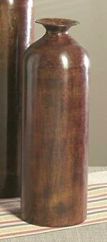 """15.25"""" Stone Bronze Finish Bottle Vase, Set of 2"""