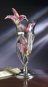 Antique Silver Finish Aluminum Floating Vase