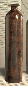"""23"""" Stone Bronze Finish Bottle Vase"""