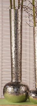"29.5"" Nickel Hammered Water Mark Aluminum Vase"