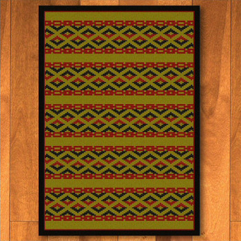 5' x 8' Basket Weave Dark Chocolate Cherokee Inspired Rectangle Rug