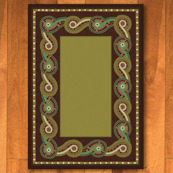 5' x 8' Rolling Water Multi Color Cherokee Inspired Rectangle Rug