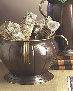 Antique Copper with Antique Brass Handles Planter