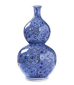 Blue and White Gord Porcelain Vase