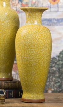 Yellow Imperial Porcelain Vase