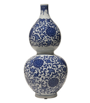 Blue and White Gord Porcelain Vases, Set of 2