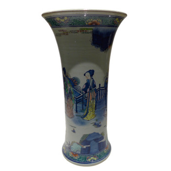 Hand Painted Ming Style Porcelain Vase