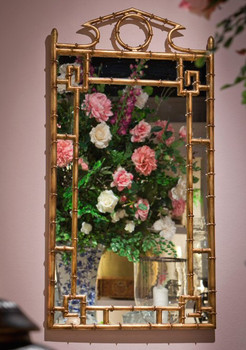 Antique Gold Bamboo Wall Mirror