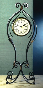 Iron Scroll Floor Clock