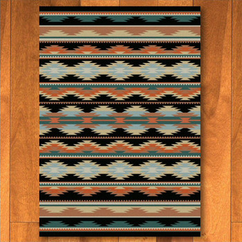 5' x 8' Medicine Dark Southwest Rectangle Rug