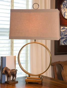 Antique Brass Iron Circle Lamp