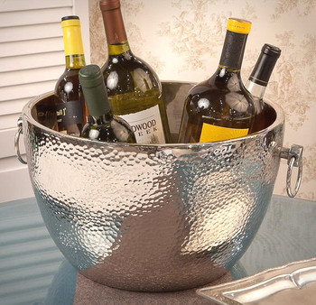 Nickel Aluminum Double Walled Hammered Cooler