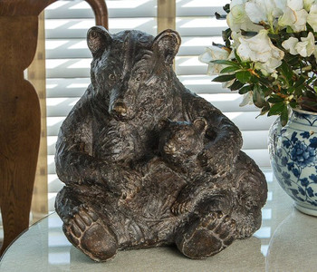 Bronze Bear Family Statue